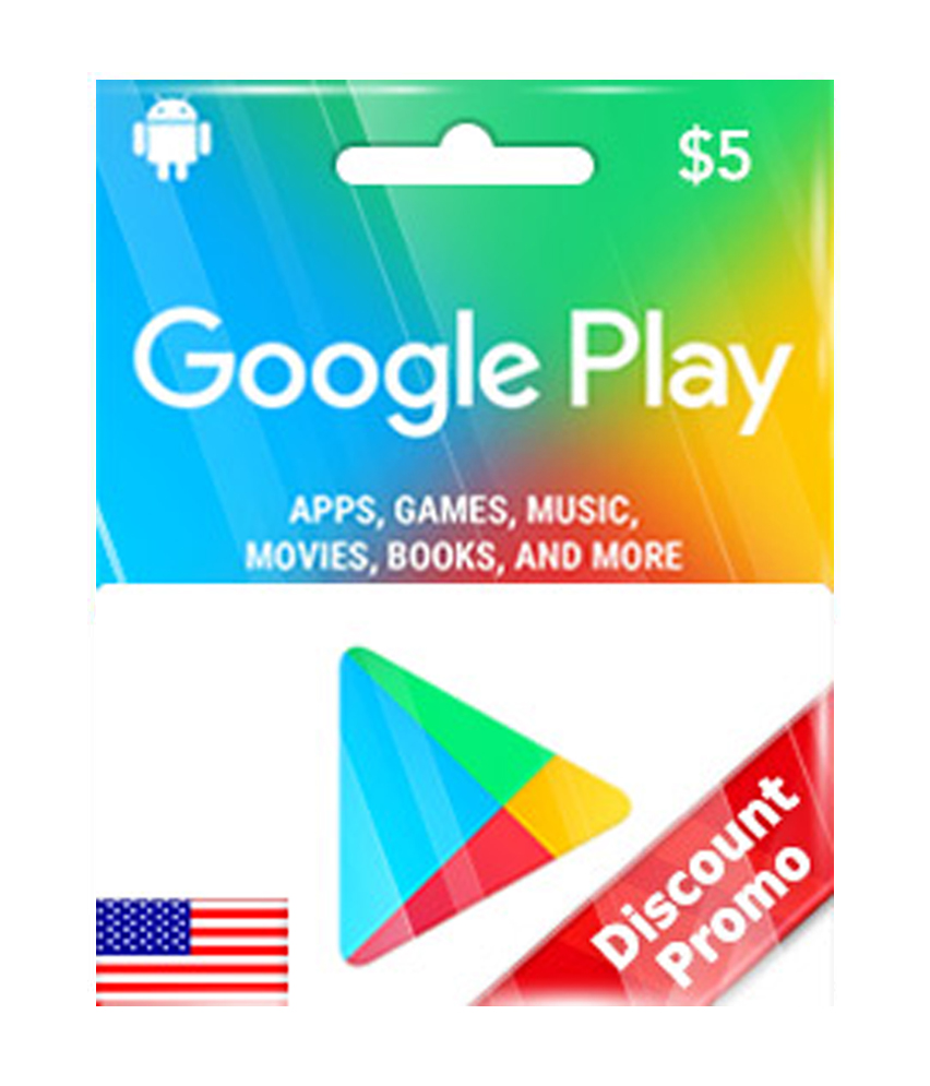 Google Play $5 US Gift Card [ Email Delivery ]